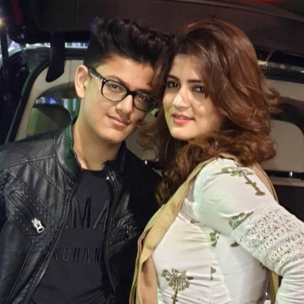Choti Srabanti with her son